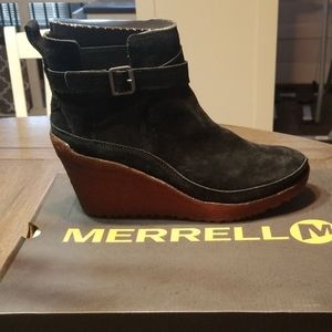 Merrell Tremblant Wedge booties NIB